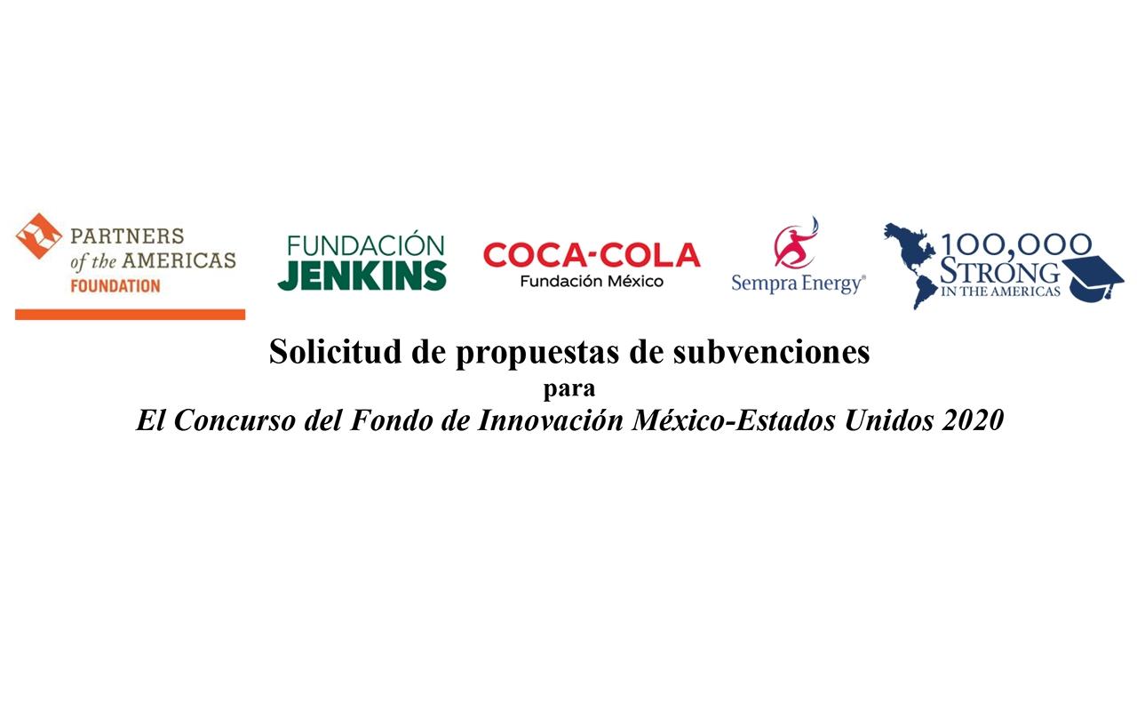 Participa en la convocatoria del Concurso del Fondo de Innovación México-Estados Unidos 2020