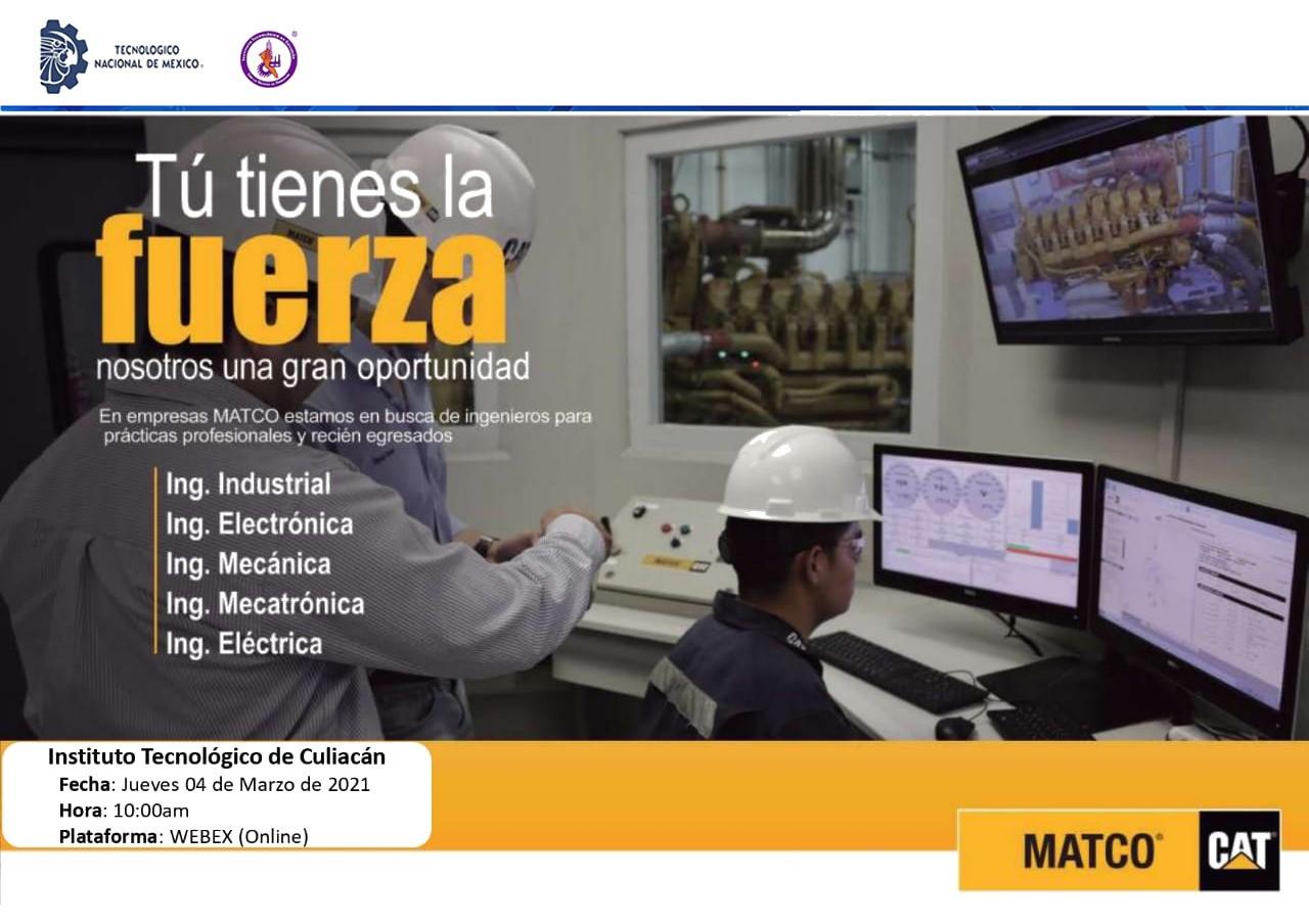 Empresas MATCO busca ingenieros para prácticas profesionales y recién egresados