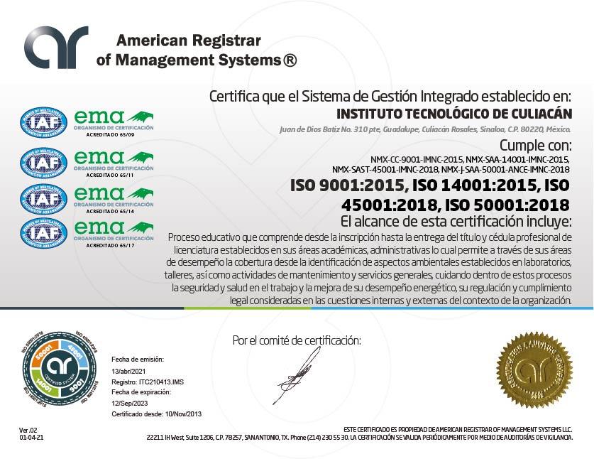 Se certifica el ITC en su proceso educativo, calidad, ambiental, seguridad y salud en el trabajo