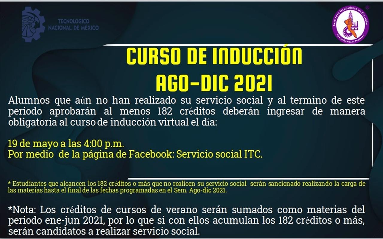 Curso de inducción de servicio social agosto-diciembre 2021